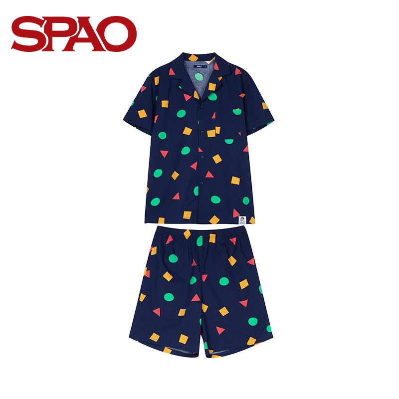 무한도매 SPAO 짱구 연명 잠옷 반팔 실내복 홈웨어 SPPP936D01SPPPA36D71