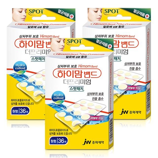 하이맘 밴드 더프리미엄 스팟패치 원형 36매입, 3팩
