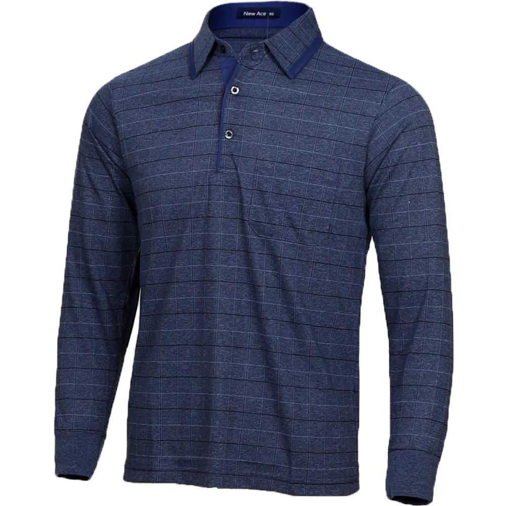 뉴에이스 아빠티셔츠 아저씨옷 60대아빠옷 중년남성의류 긴팔 티셔츠