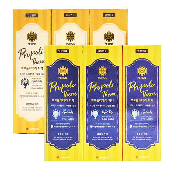 1+1 A-MALL LG 페리오 프로폴리테라 치약 100g X 3개입 1세트 (클래식민트+레몬허니민트), 2set