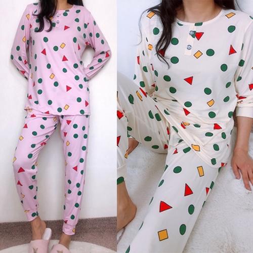 멜란지 촉촉도형세트 성인 파자마 홈웨어 잠옷 아이와커플잠옷 피치 편한 수면