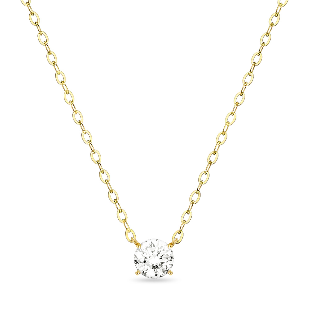 18K 목걸이 0.3캐럿 스와로브스키 시그니티 gold necklace 골드 데일리 여친 선물_NC8103