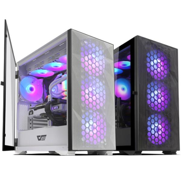 darkFlash DLX21 RGB MESH 강화유리 화이트 PC케이스