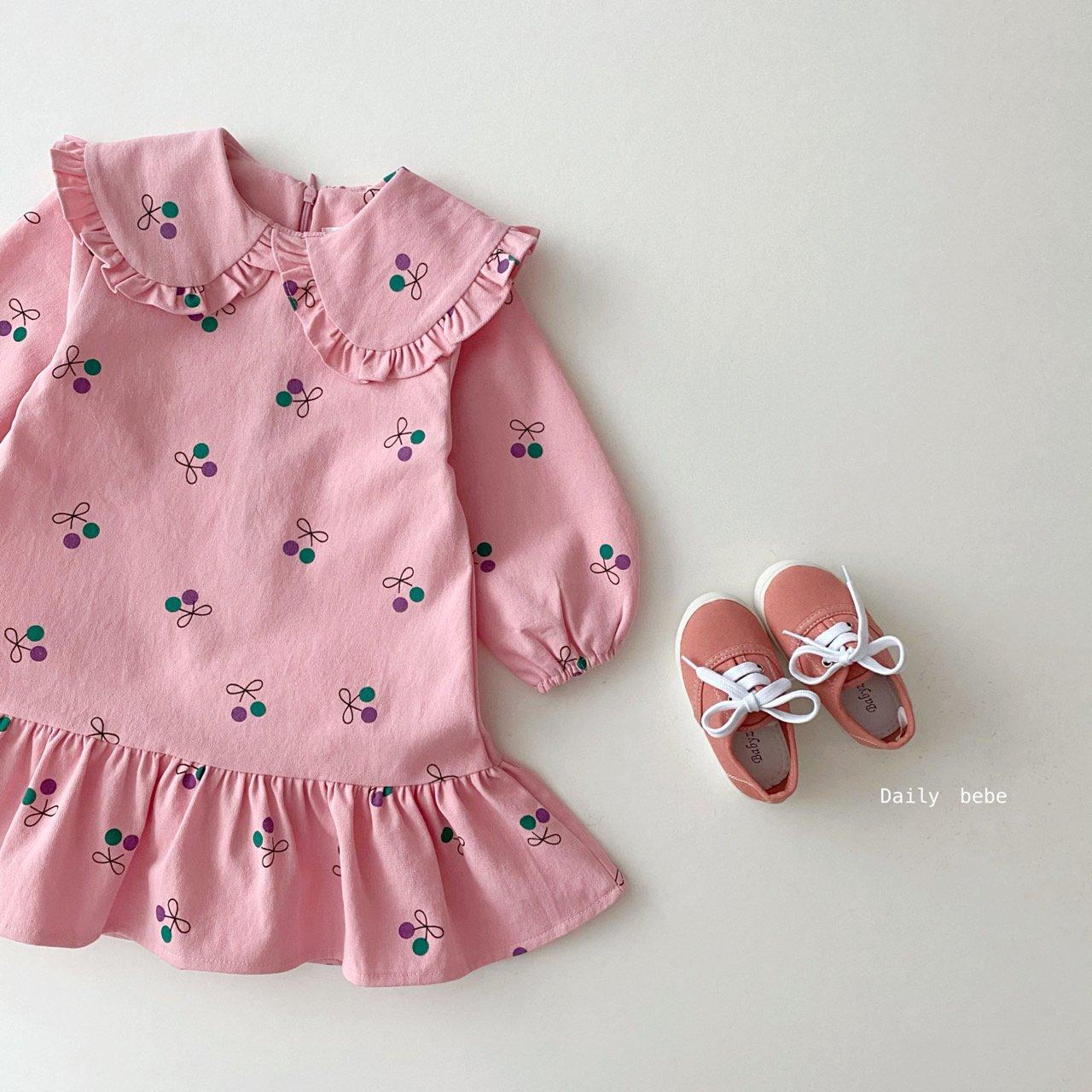 21 봄 데일리베베 유아동 체리 원피스
