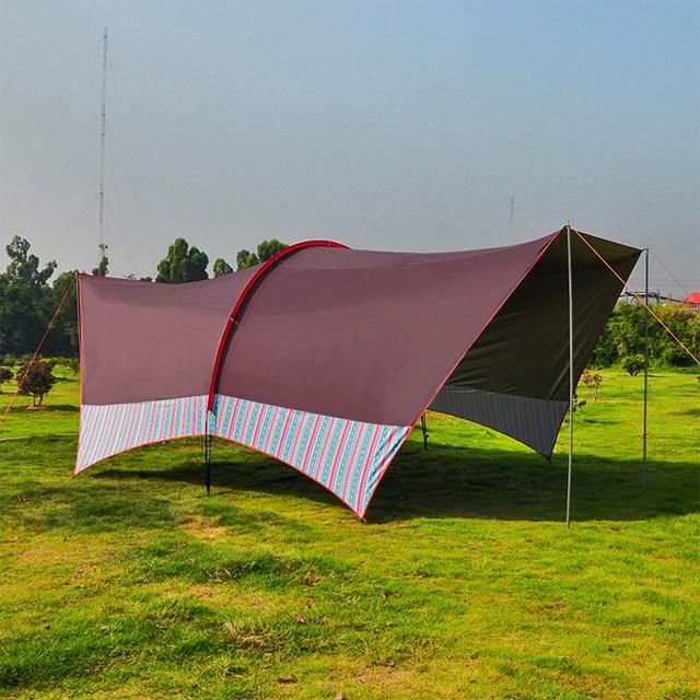 chacha 바람막이 방수텐트 방수그늘막방수타프 다크브라운stripe07, 1세트, 다크브라운stripe