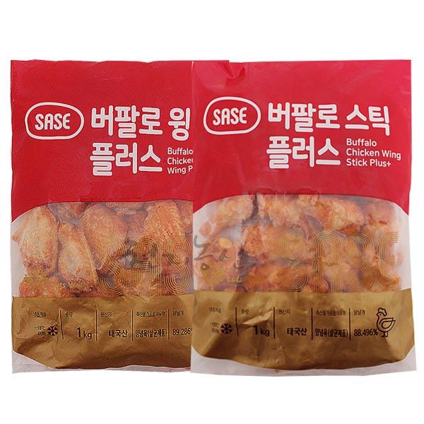 사세통상 사세 버팔로윙1kg+버팔로스틱1kg, 2개, 1kg