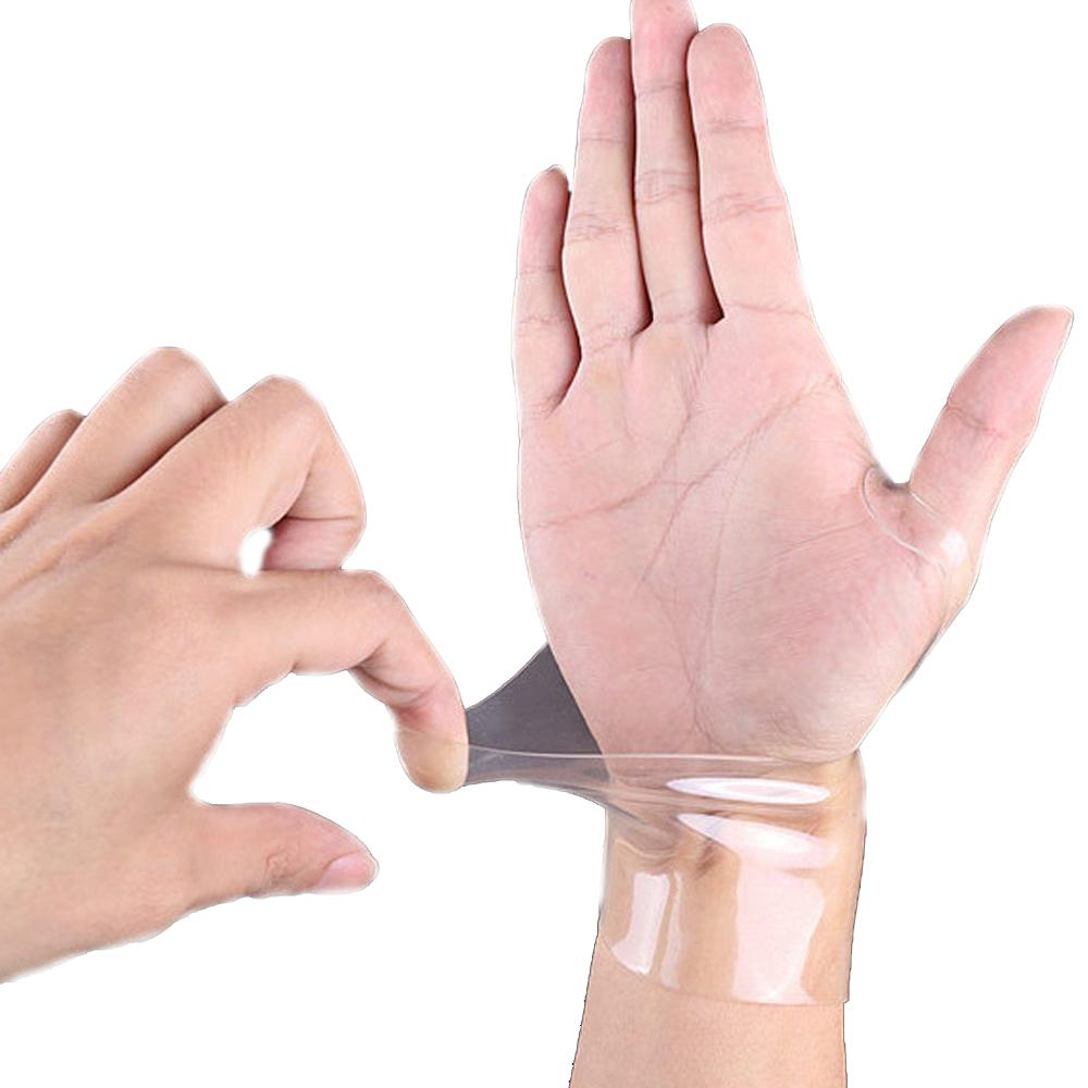투명 실리콘 손목 보호대 건초염 통증 터널증후근, 단품