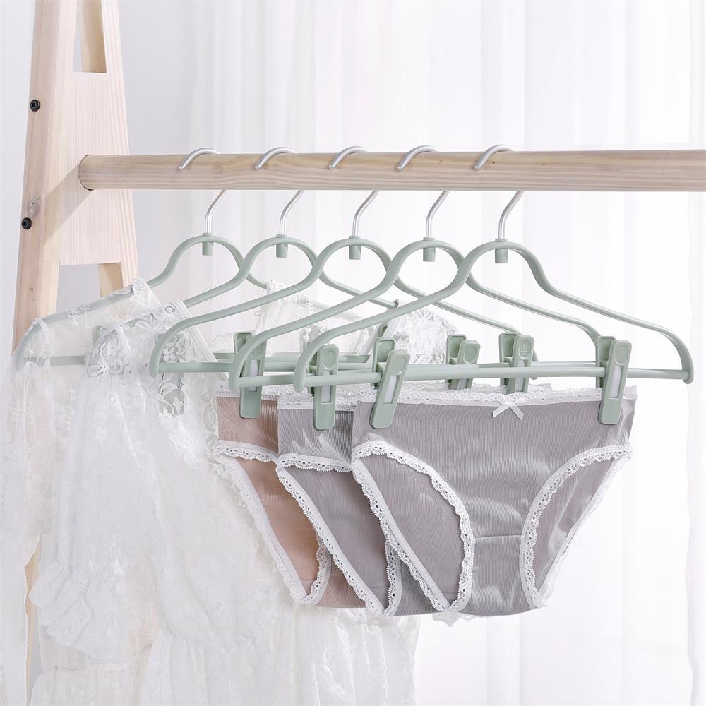 행거 가정용 헴라인 비닐 플라스틱 벌리다 논슬립바지걸이 빨래 널기 선반, 5개 녹차를 바르다