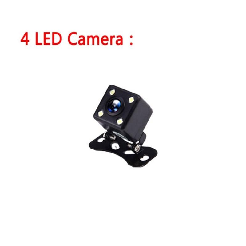 Podofo câmera de ré hd câmera de visão traseira grande angular câmera veicular assistência de estaci, 중국, 4 LED 카메라