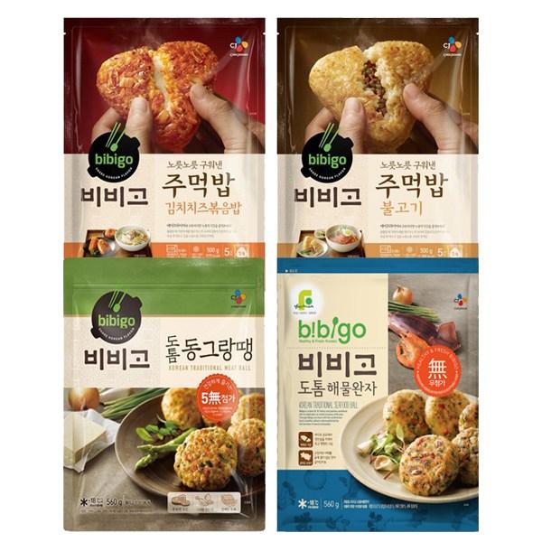 비비고 주먹밥 2종+동그랑땡2종 (김치치즈 불고기 동그랑땡 해물완자), 1세트