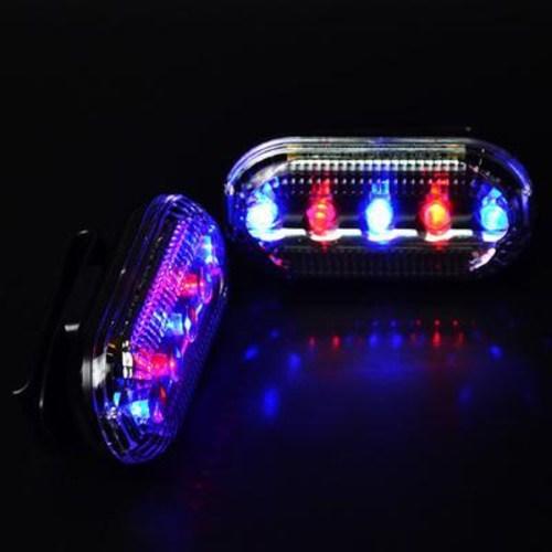 2차 사고 예방 신호 조난 재난 led 자동차 긴급 불꽃 신호기 히트 LED 경고섬광 안, 03 5LED 레드블루 10개 안전등 [배터