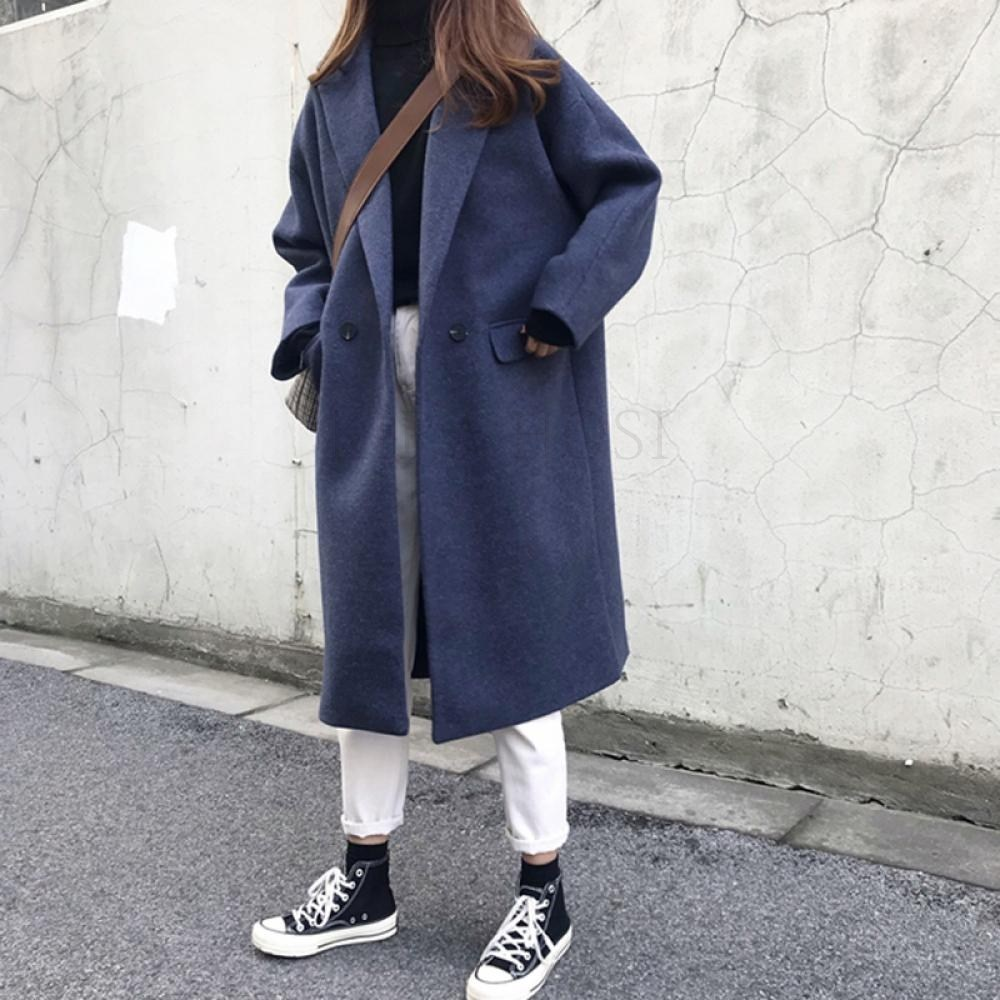 kirahosi 트렌디 여성 모직 코트 오버핏 슬림 추동 환절기 283호+덧신증정 Psvqj8f