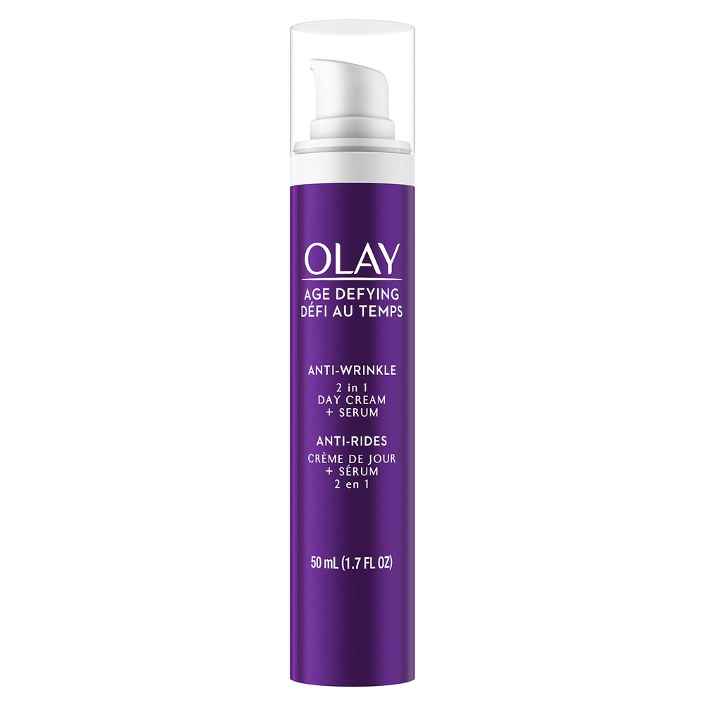 올레이 Olay Age Defying Anti-Wrinkle 2in1 Day Cream Serum 에이지 디파잉 안티 링클 크림 + 세럼 50 mL, 1팩, 1ml