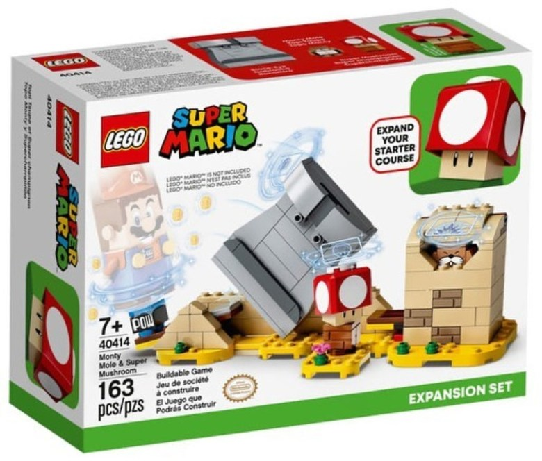 레고 슈퍼마리오 71360 신제품 스타터 팩 쿠파 요새 확장시리즈 추가구성 가능, 40414 노란색 두더지와 슈퍼 버섯