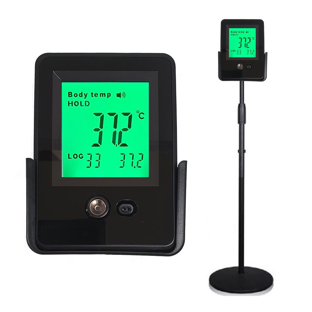 업소용 비접촉식 적외선 디지털 비대면 온도계 온도측정기 /스탠드+어댑터 사은품/벽걸이/업소/회사/식당/교회/4시 이전주문시 당일발송, KNH2020_0010