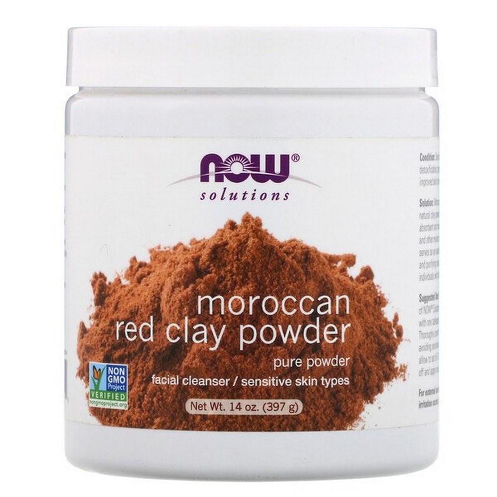 나우푸드 솔루션즈 모로코 레드 클레이 파우더 Moroccan Red Clay Powder 14oz(397g), 1개, 1개