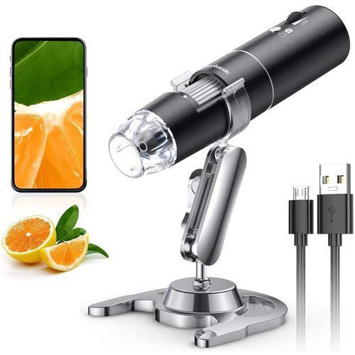 전자 광학 실체현미경 디지털 생물 USB 무선 Skybasic 50X 1000X WiFi 핸드 헬드 확대 내시경 카메라 돋보기 1080p FHD 2.0 MP 8 LED iPhone