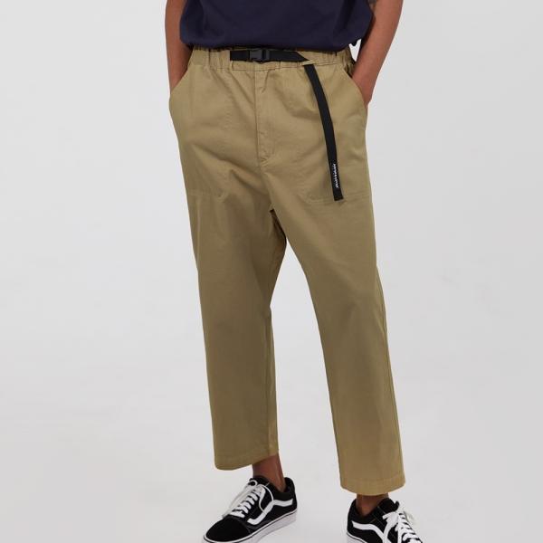 어드바이저리 Banding Baggy Crop Pants - Beige