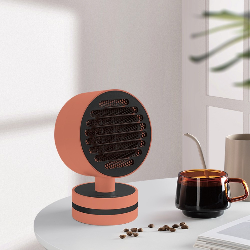 겨울 캠핑 난방 마카롱 온풍기 저전력 히터 야외 휴대용 미니 사무실 가정용, 오렌지