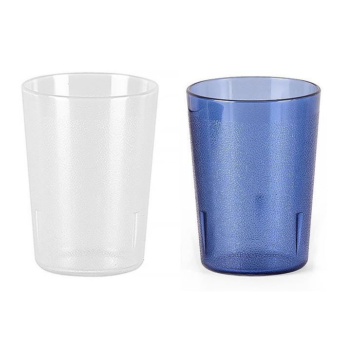 업소용 PC 물컵 음료수 주스 카페용 투명 안깨지는 컵, 패턴컵-400p, 블루
