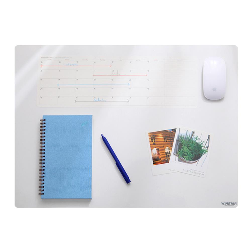 스크레치방지 고투명 데스크매트 중 키보드매트 책상덮개 독서실매트