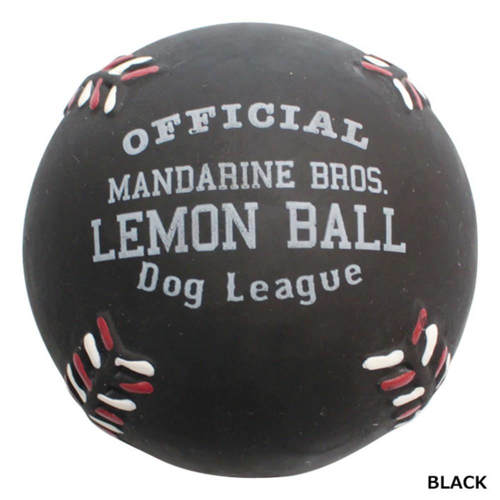 애완견 소형견 중형견 탄성 볼 강아지 장난감, 1개, 레몬 베이스볼 블랙