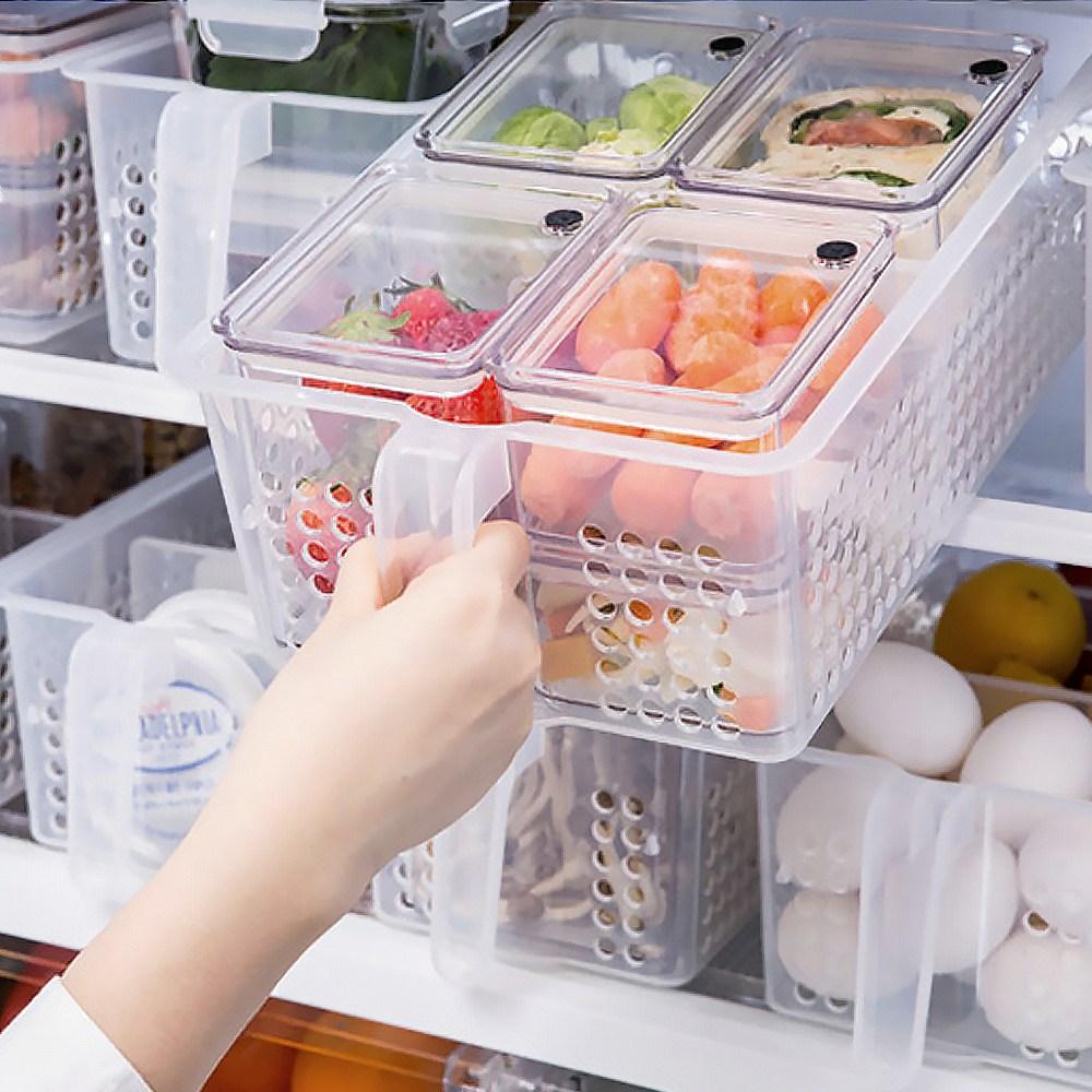 국산 핸들트레이 중 냉장고정리 플라스틱드럼통 냉장고수납