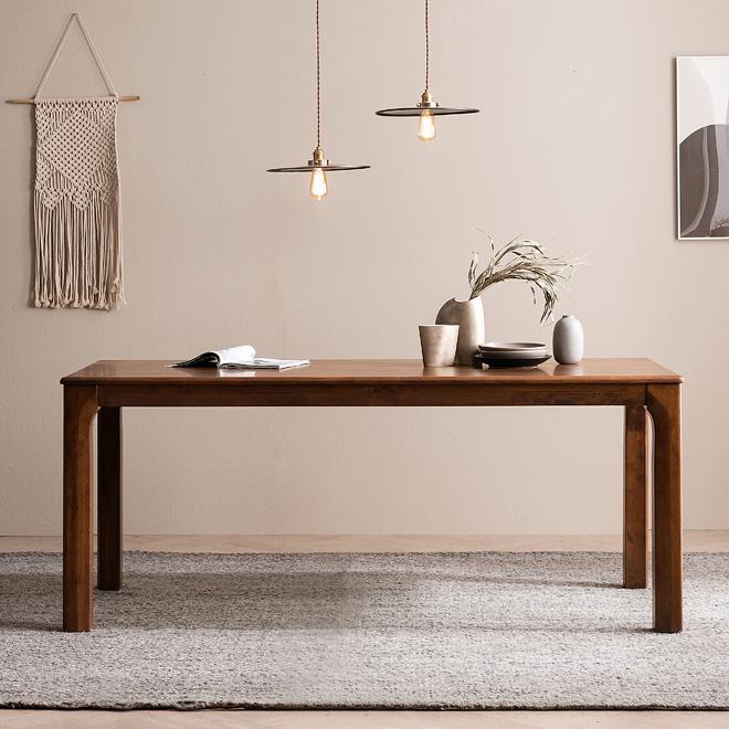 바렌트 고무나무 원목 6인용 식탁 테이블 1800, 단품