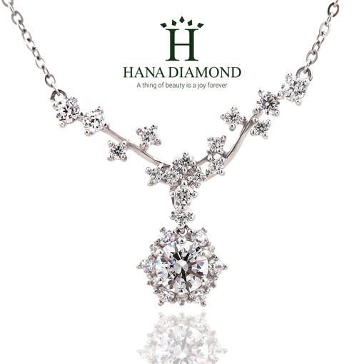 하나다이아몬드 3부 다이아목걸이 현대 우신 GIA 프로포즈 결혼예물 웨딩선물 - 제인 HNDN03707 목걸이