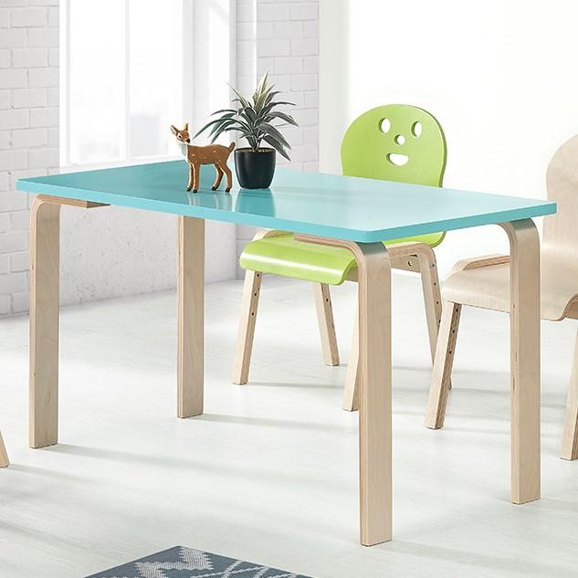 토리 원목 초등 오리지널의자 직사각 책상세트 8-10세, 초등 직사각 하늘 책상 / 오리지널의자 내추럴+빨강