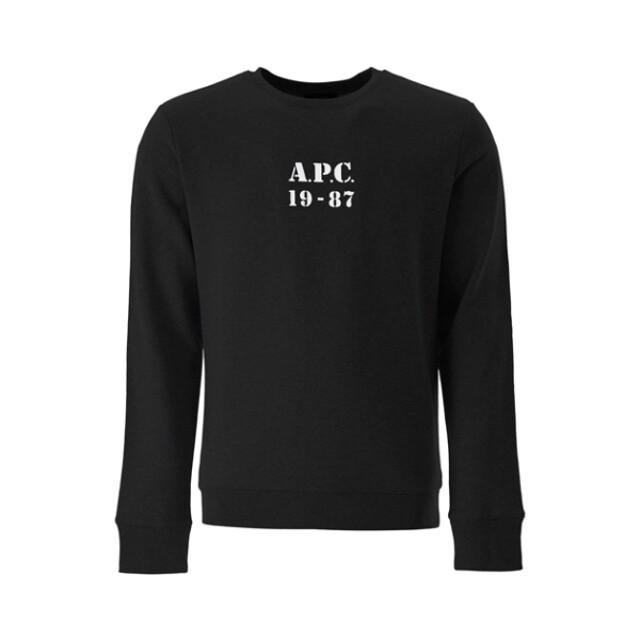아페세 아페쎄 로고 맨투맨 블랙 COECQ H27609