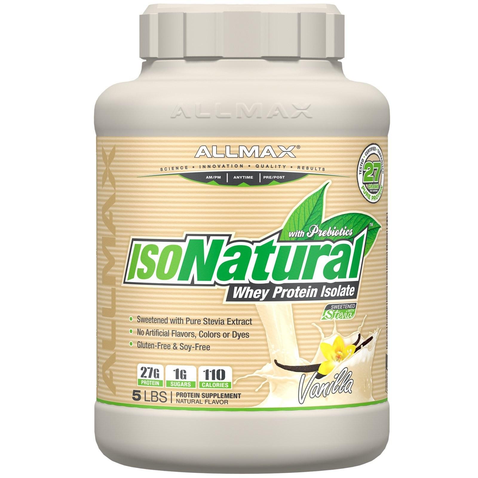 올맥스뉴트리션 IsoNatural 100% 유청 단백질 분리 2.3kg, 1개, -