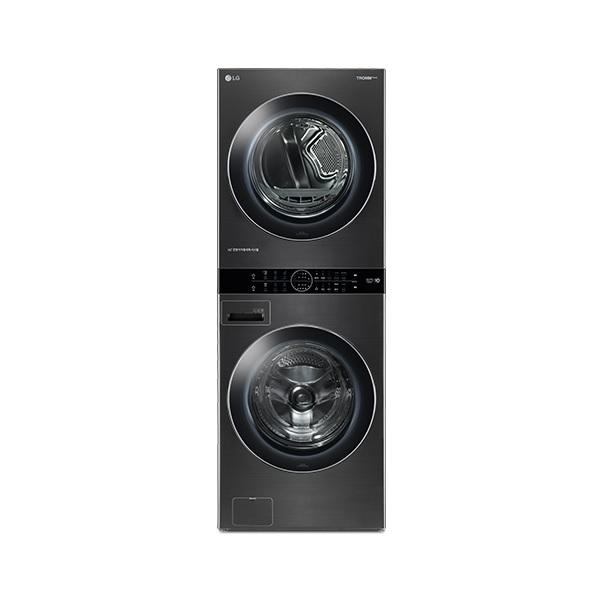 LG전자 트롬 W17KT 워시타워 세탁 24kg 건조 17kg 스페이스 블랙