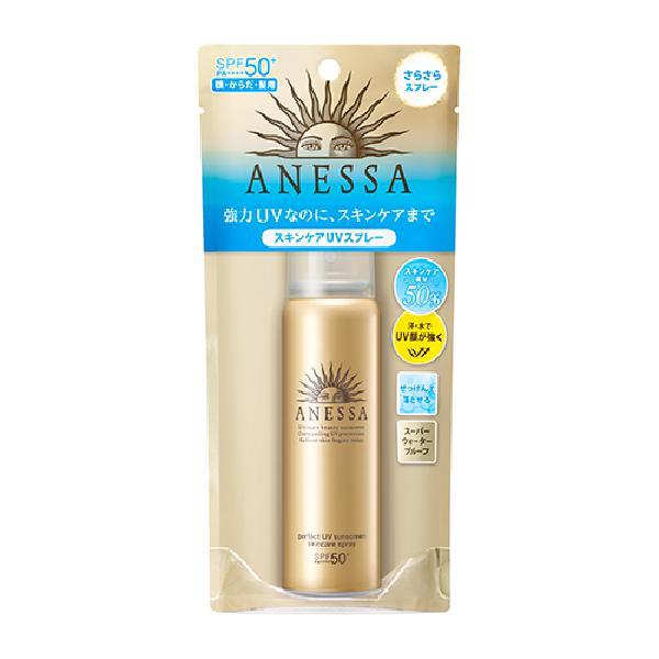 시세이도 아네사 퍼펙트 UV 스킨 케어 스프레이 a 60g SPF50PA 자외선 차단제 스프레이 얼굴·바디용, 단일