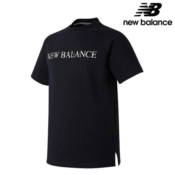 뉴발란스 NBNC921013 BK 공용 레터링 스웻 어반핏 반팔 맨투맨 티셔츠