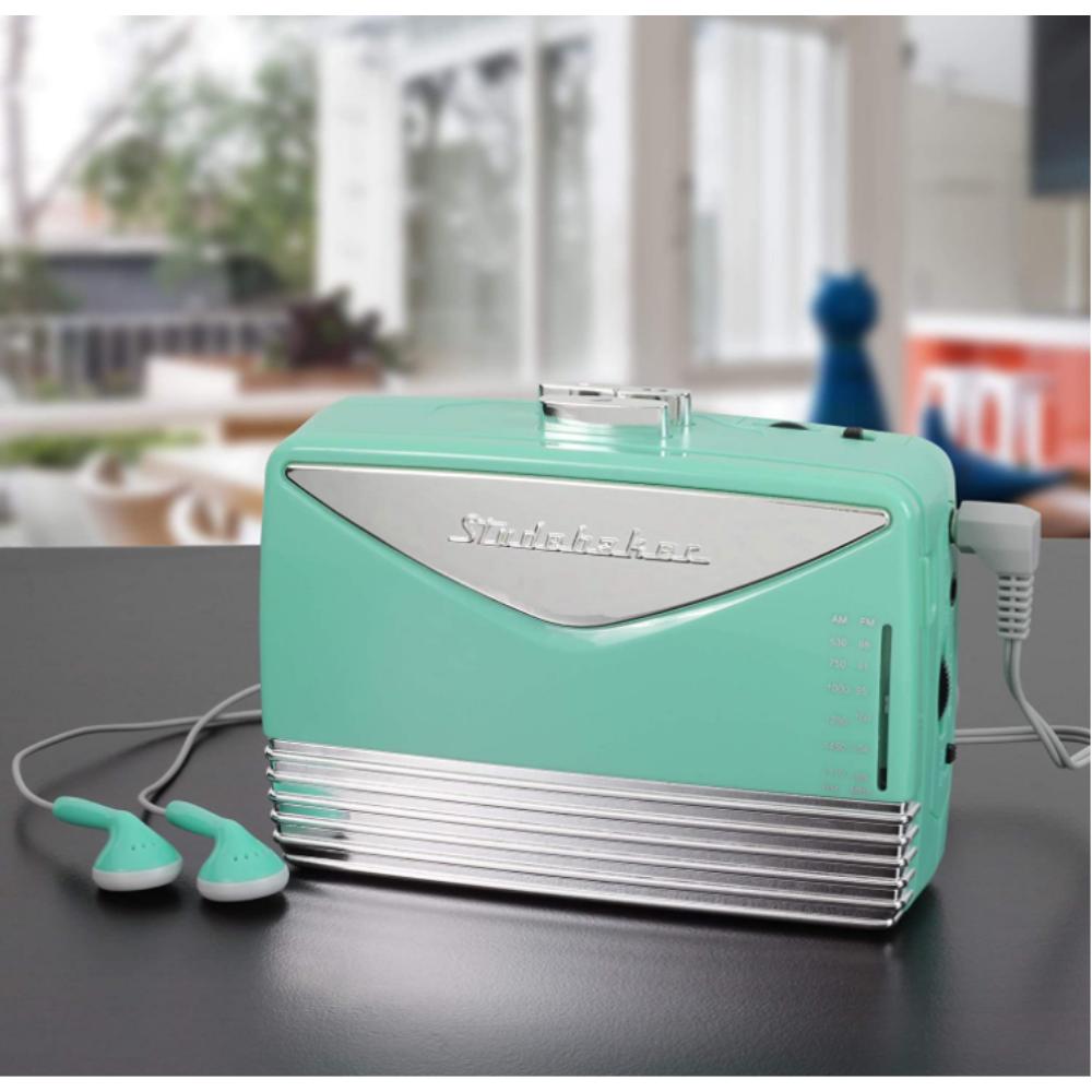 레트로 빈티지 휴대용 미니 워크맨 카세트 테이프 플레이어 마이마이 민트 컬러