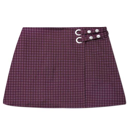 MARYJAMES (W) Moise Skirt - Burgundy