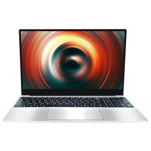 [해외] 15.6 인치 노트북 CELERON J4115 프로세서 8G + 128G 지원 2.45GWIFI 쿼드 코어 게임용 노트북 (EU 플러그), 상세내용표시, Silver