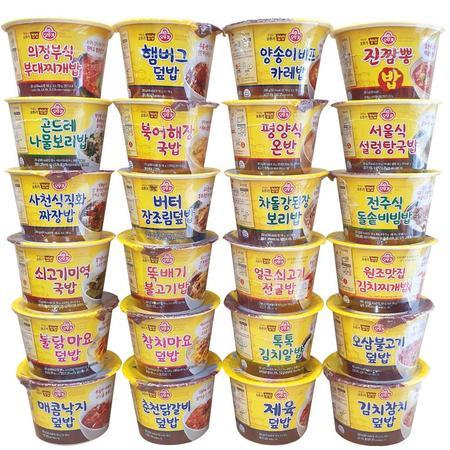 [멸치쇼핑]오뚜기컵밥 24종 1세트, 1개