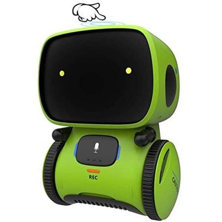 MLYWD 지능형 로봇 인공 지능의 춤추는 로봇의 반복 및 기록 기능 교육용 로봇 장난감 메모 소년 소녀, 단색