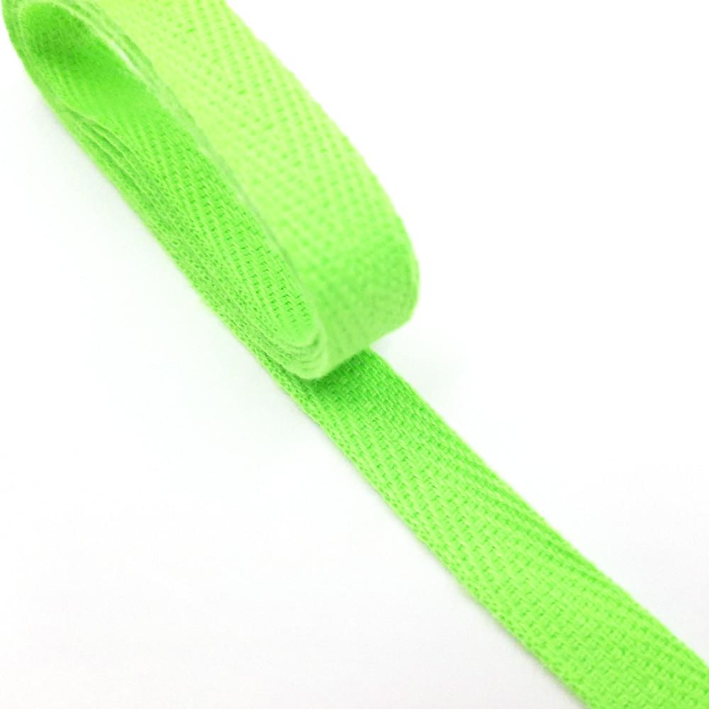 헤링본 끈 10mm (형광그린) 마스크목걸이 1마 90cm