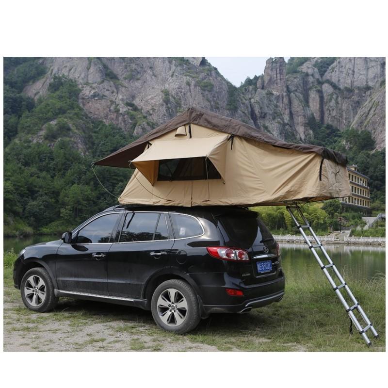 차박도킹텐트 차량용 지붕텐트 트렁크 카쉘터 타프 suv 루프탑, 1.4m 넓고 긴 지붕 텐트 접이식 후 21cm 두께