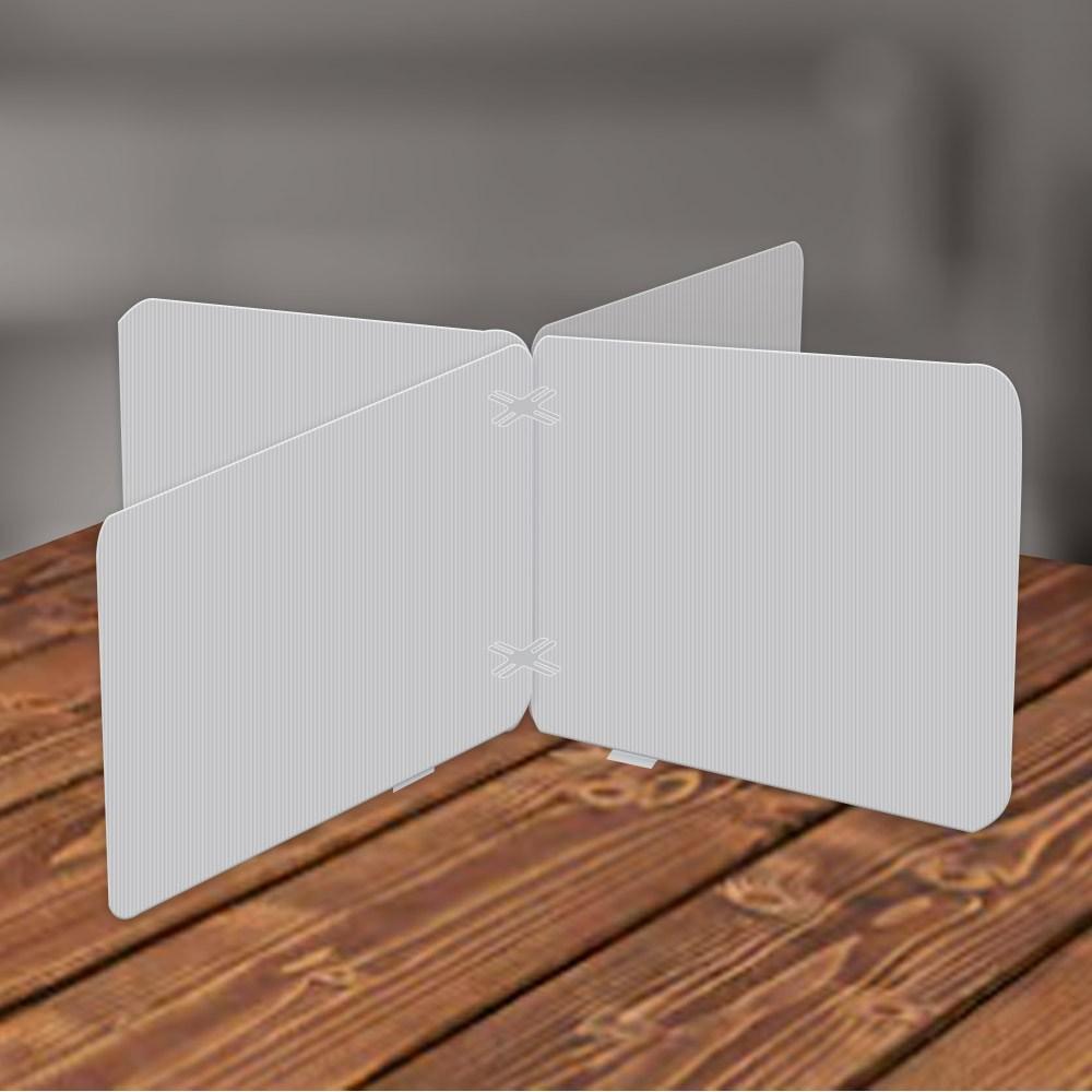 하나사인몰 반투명 코로나 칸막이 학교 식당 사무실 책상가림막, 단프라 십자형 355x440mm