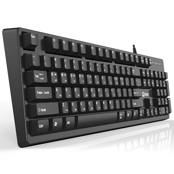 큐센 SEM-DT45 NEW 유선 키보드 (PS2 키스킨포함), 단일색상, 선택하세요
