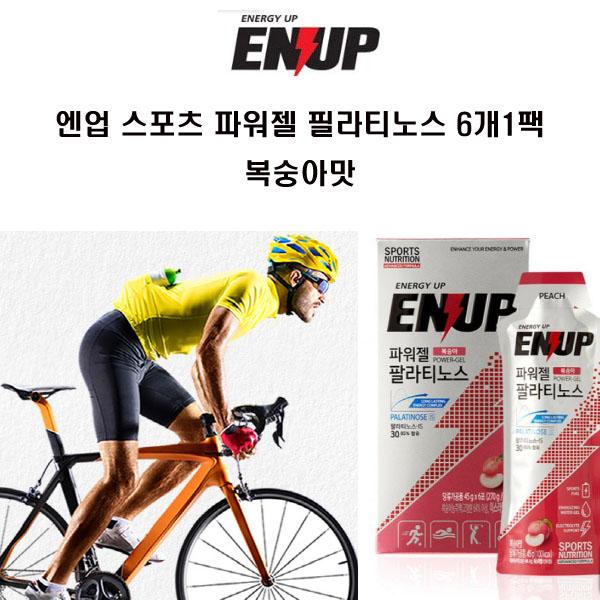 ENUP엔업 스포츠 파워젤 팔라티노스 복숭아맛 6포1팩, 에너지젤