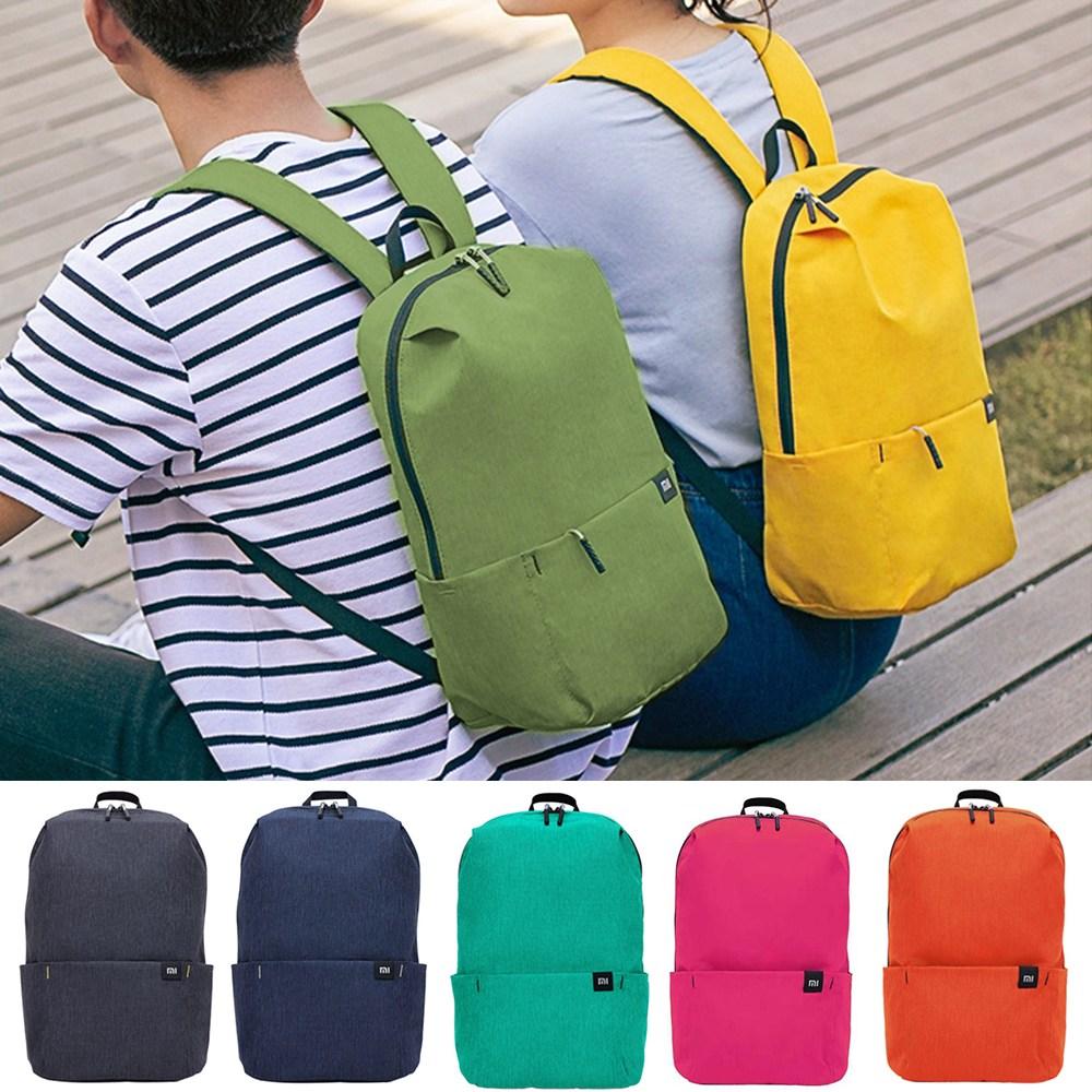 샤오미 미니 백팩 10가지 색상 Xiaomi Mini Backpack 초경량 학생 커플 카메라 도시락 분유용