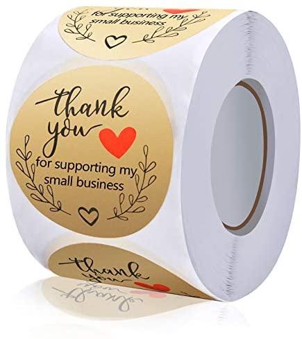 [해외직구]Ankeo 2 Thank You for Supporting My Small Business Stickers Classy Retro Sticker for Bag, Gold_One Size, 1개, Gold
