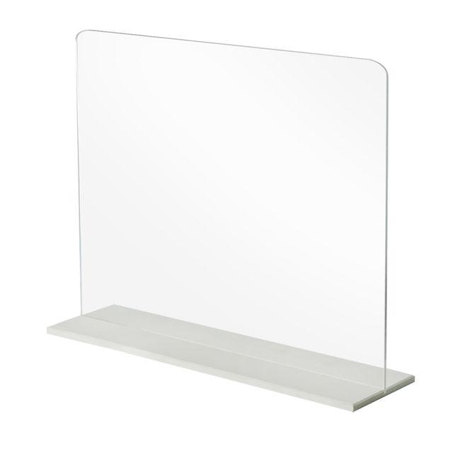 [천삼백케이] [아이디스타] 투명 아크릴 가림막 급식실 사무실 600 x 400 mm, 단품