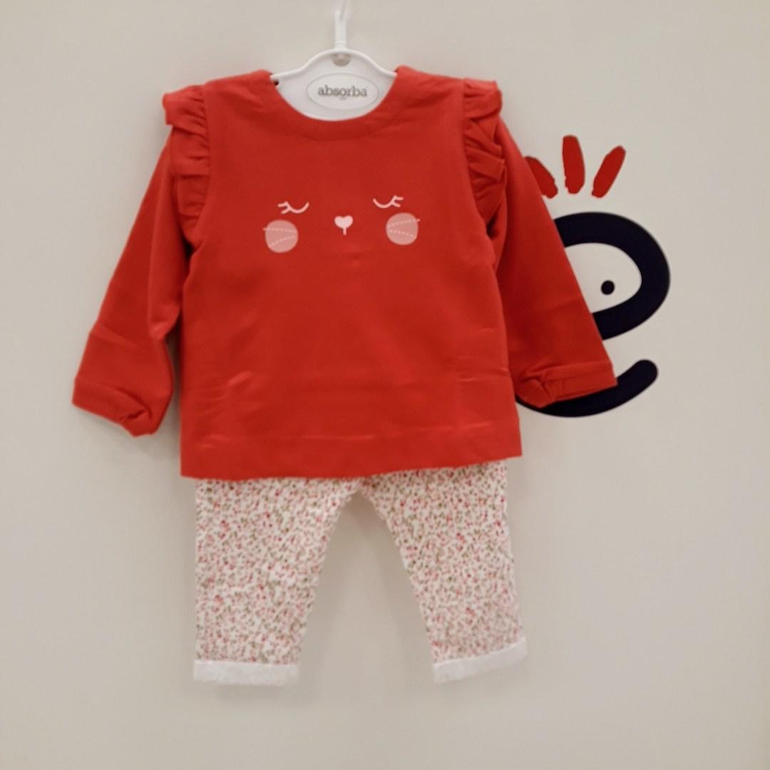 압소바 논현점 예쁜 빨강 색상에 데일리로 편하게 입을수 있는 상하복