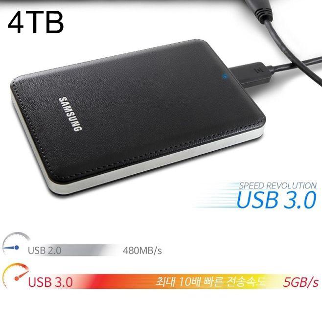 삼성외장하드 J3 4TB Portable (블랙) + 파우치 증정, 1